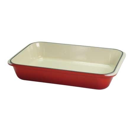 Rectangular Roasting Dish 32cm Red