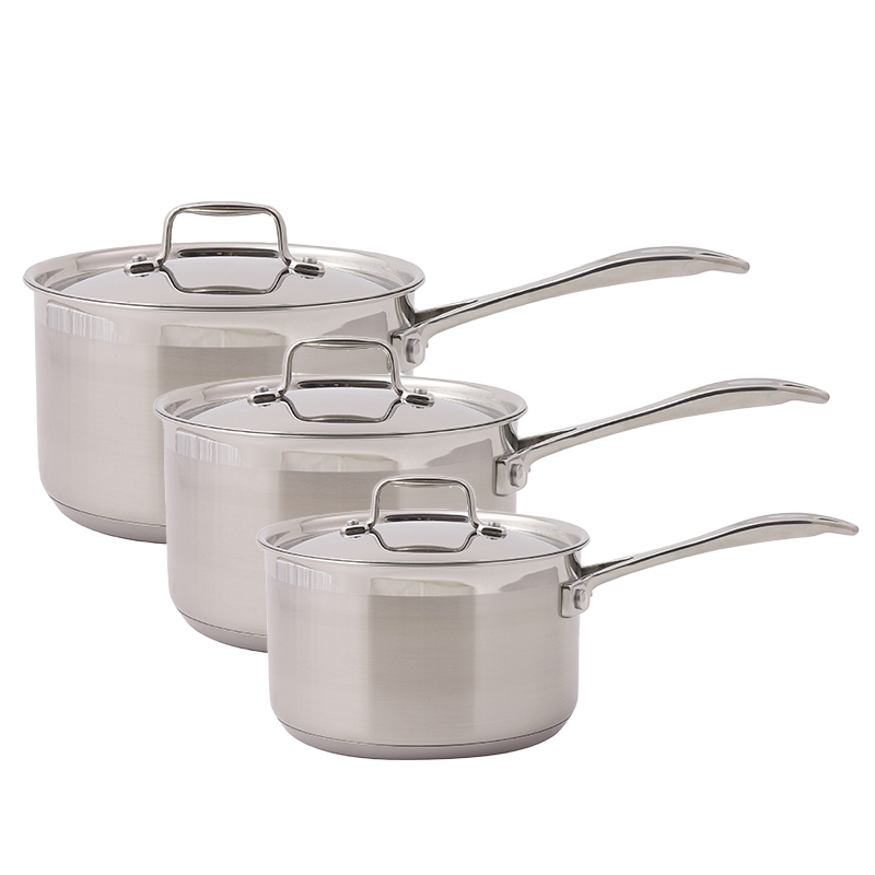 Dexam Supreme Stainless Steel 3 piece Saucepan Set