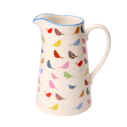 Made With Love Little Birds Porcelain Large Jug