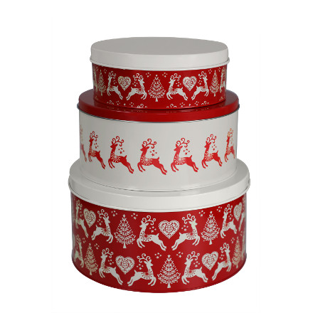 Yuletide Cake Tins Set/3