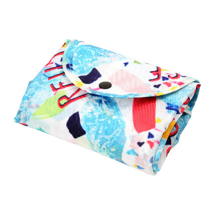 Reuse Reduce Recycle RPET Fold up shopping bag