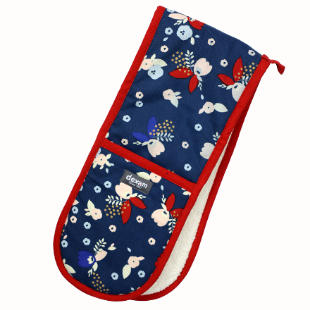 Bloom Double Oven Glove Indigo