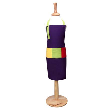 Rushbrookes Paintbox Child's Apron - Aubergine