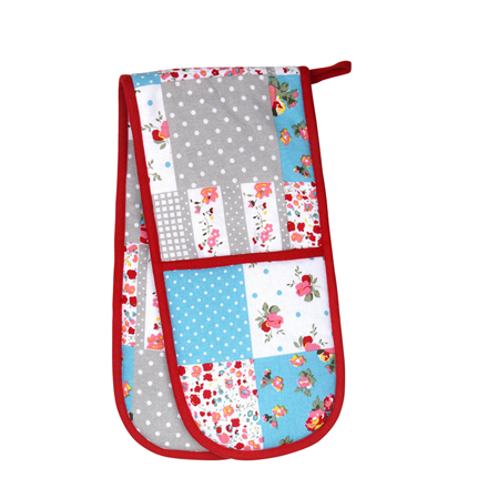 Dexam Patchwork Floral Double Oven Glove