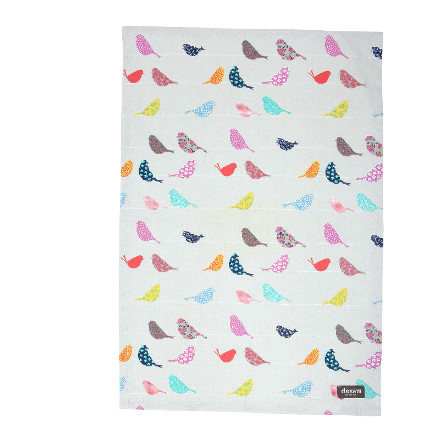 Little Birds Tea Towel
