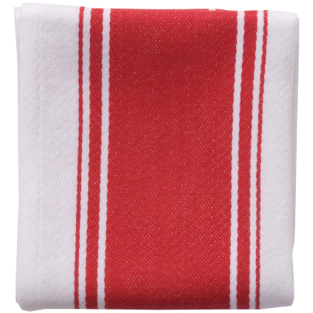 Dexam Love Colour Striped Tea Towel - Scarlet