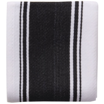 Dexam Love Colour Striped Tea Towel - True Black