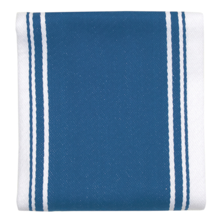 Dexam Love Colour Striped Tea Towel - Moroccan Blue