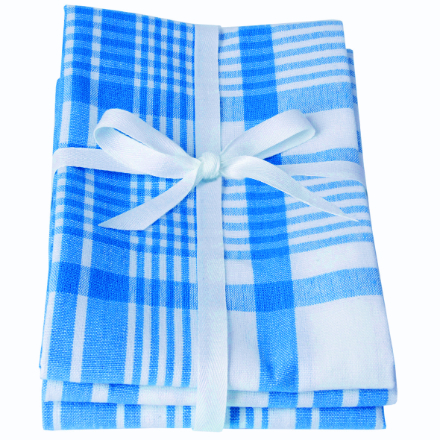 Dexam Love Colour Set Of 3 Extra Large Tea Towels - Moroccan Blue