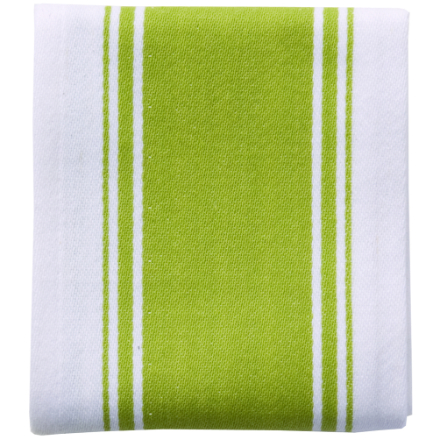 Dexam Love Colour Striped Tea Towel - Greenery