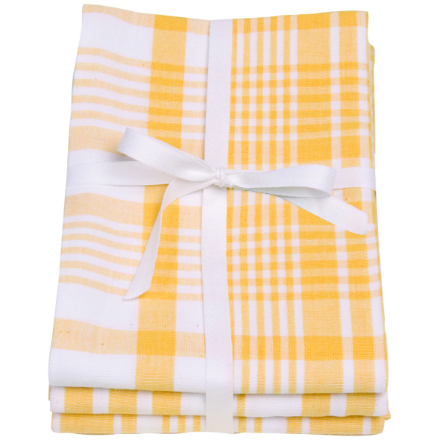 Dexam Love Colour Set Of 3 Extra Large Tea Towels - Sunflower