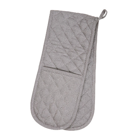 Love Colour Double Oven Glove - Slate Grey