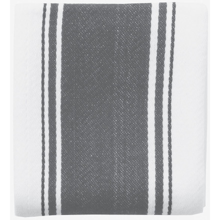 Love Colour Striped Tea Towel - Slate Grey