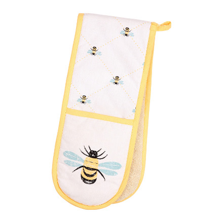 Bees Knees Double Oven Glove Yellow
