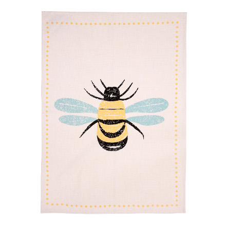 Bees knees Tea Towels Set of 2 Yellow