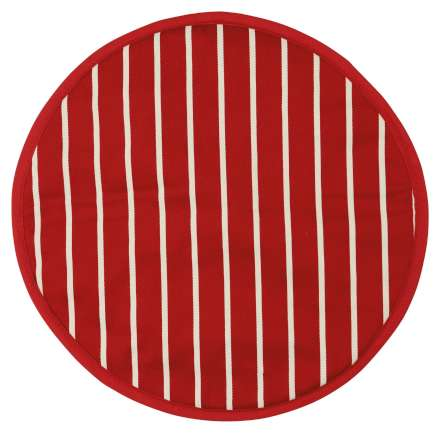 Rushbrookes Classic Butcher's Stripe Hob Cover - Red