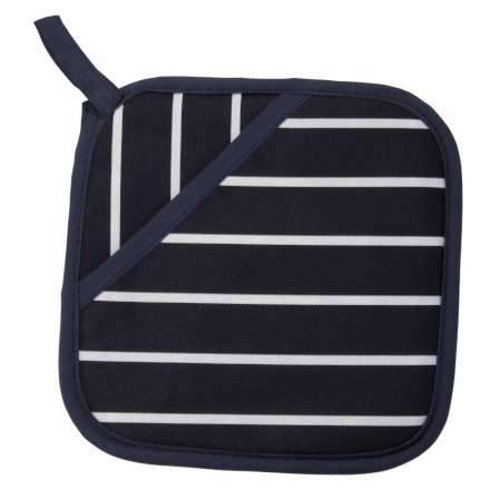 Rushbrookes Classic Butcher's Stripe Pot Grab - Navy