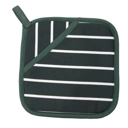 Rushbrookes Classic Butcher's Stripe Pot Grab - Racing Green