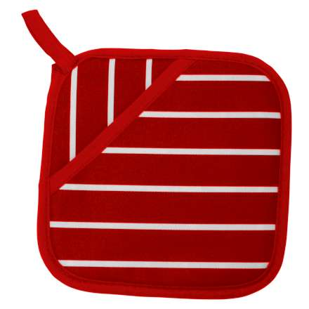 Rushbrookes Classic Butcher's Stripe Pot Grab - Red