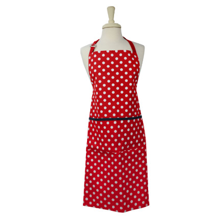 Polka Adult Apron Red