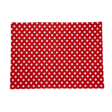 Polka Tea Towel Red