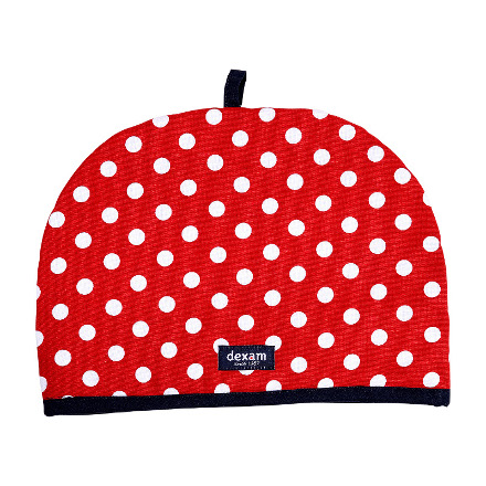 Polka Tea Cosy 6 Cup Red