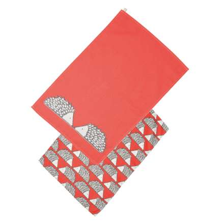 Scion Living Spike Set of 2 Tea Towels - Red