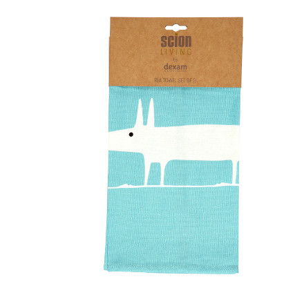 Scion Mr Fox Set of 2 Tea Towels - Teal