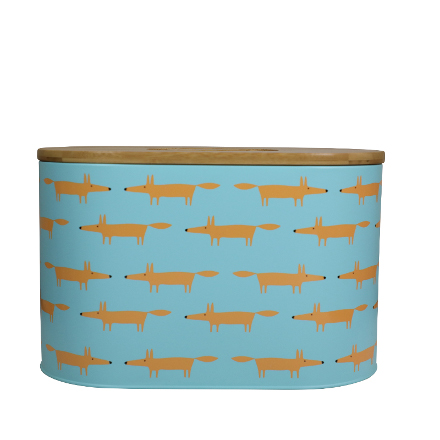 Scion Mr Fox Bread Bin 8L Blue