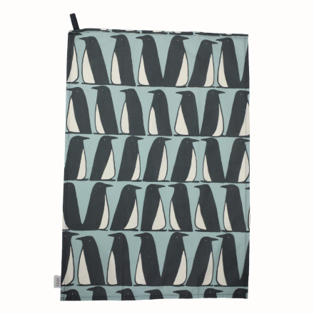Scion Pedro Penguin Set/2 Tea Towels Ice Grey