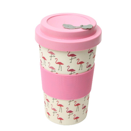 BamBroo Drinks Mug Flamingo 400ml