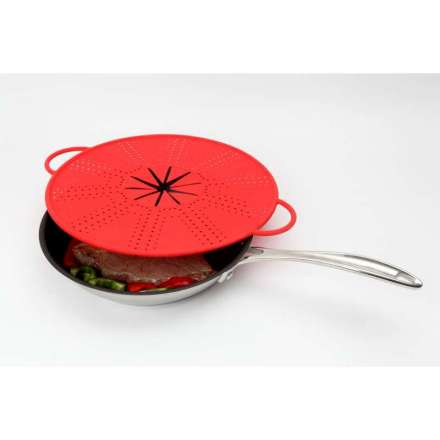 Dexam Splatter and Splash Shield - 33cm Red