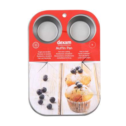 Dexam Non-Stick Muffin Pan - 6 Cup