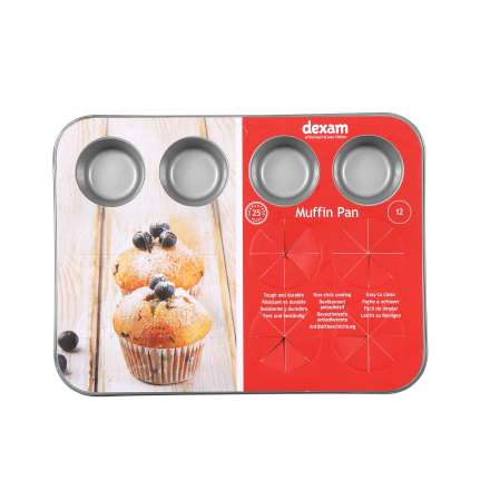Dexam Non-Stick Mini Muffin Pan - 12 Cup