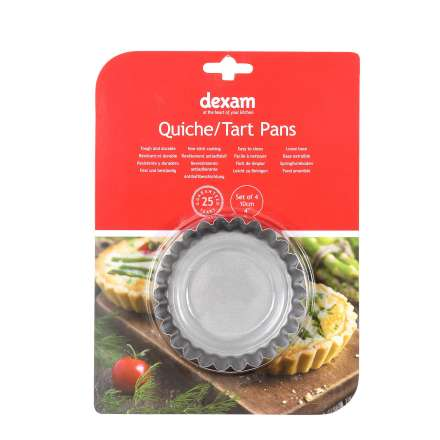 Dexam Non-Stick Mini Quiche/Tart Pans