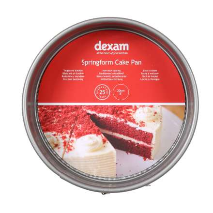 Dexam Non-Stick Round Springform Cake Tin - 20cm/8