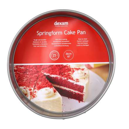 Dexam Non-Stick Round Springform Cake Tin - 26cm/10