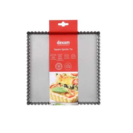 Dexam Non-Stick Square Flan Pan