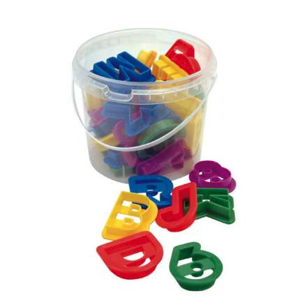 Dexam Alphabet and Numbers Cookie Cutters - Set of 36