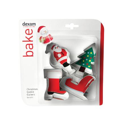 Dexam Christmas Cookie Cutters - Santa Set of 4