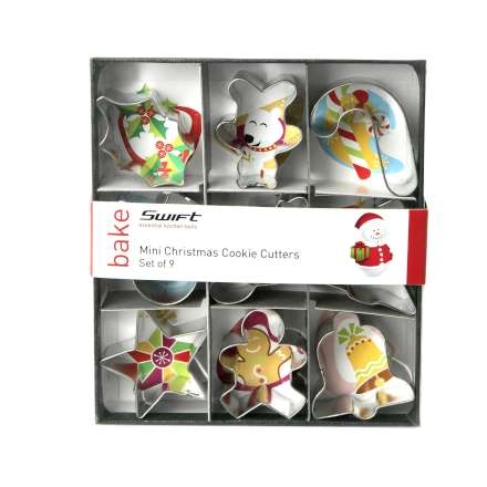 Dexam Mini Christmas Cookie Cutters - Set of 9