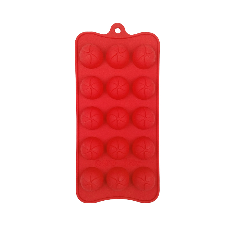 Round Chocolate Mould, Red