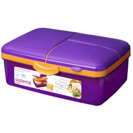 Sistema Trends Slimline Quaddie Lunch Box 1.5L
