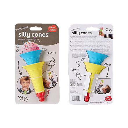Silly Cones Set/2 Blue + Yellow